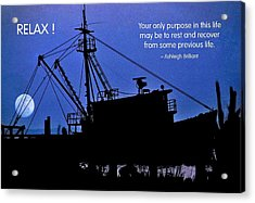 Relax Acrylic Print by Mike Flynn
