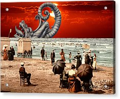 Relax On The Beach Collage Acrylic Print