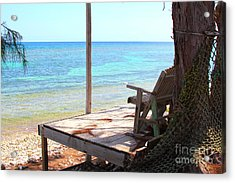 Relax Porch Acrylic Print by Carey Chen