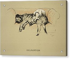 Relaxation, 1930, 1st Edition Acrylic Print