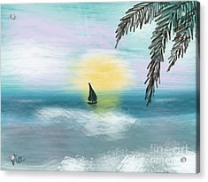 Relaxation Acrylic Print by Judy Via-Wolff