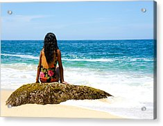 Relaxing Acrylic Print by Aged Pixel