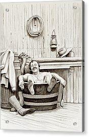 Relaxing Bath - 1890's Acrylic Print