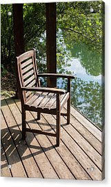 Alone By The Lake Acrylic Print by Parker Cunningham
