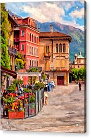 Relaxing In Baveno Acrylic Print