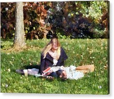 Relaxing In The Park Acrylic Print by Susan Savad