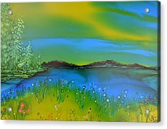 Relaxing Meadow Acrylic Print by Kellie Chasse