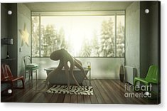 Relaxing Octopus...  Acrylic Print by Pixel Chimp