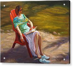 Relaxing On The Kickapoo Acrylic Print