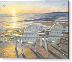 Relaxing Sunset Acrylic Print by Lucie Bilodeau