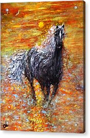 Acrylic Print featuring the painting Release.. by Cristina Mihailescu