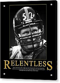 Relentless Mike Webster Acrylic Print by Retro Images Archive