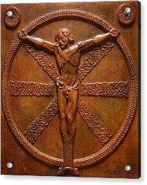 Relic - A Celtic Crucifixion Acrylic Print by Jeremiah Welsh