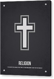 Religion Acrylic Print by Aged Pixel