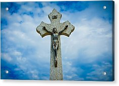 Religious Cross Acrylic Print by Aged Pixel