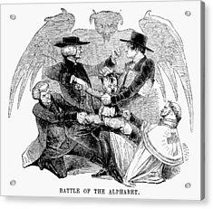 Religious Dissenters, 1843 Acrylic Print by Granger