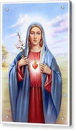 Religious Sacred Heart Of Virgin Mary Acrylic Print