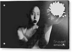 Reluctent To Hold Beauties Glow Acrylic Print by Jessica Shelton