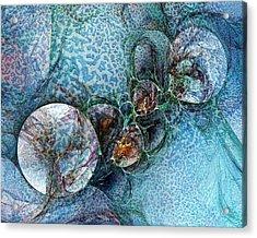Remains Of A Mosaic Acrylic Print by Amanda Moore