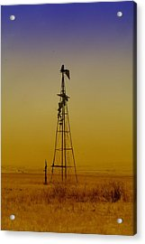Remains Of An Old Windmill  Acrylic Print by Jeff Swan