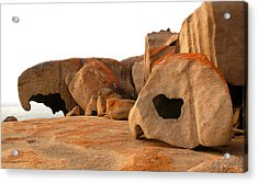 Remarkable Rocks Acrylic Print by Evelyn Tambour