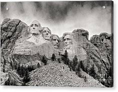 Remarkable Rushmore Acrylic Print by Erika Weber