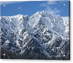 Remarkables Mountains  Acrylic Print by  Lines