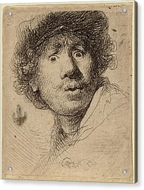 Rembrandt Van Rijn Dutch, 1606 - 1669, Self-portrait Acrylic Print