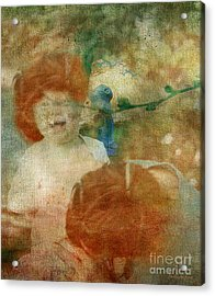Acrylic Print featuring the digital art Rembrant's Daughters by Chris Armytage