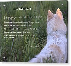 Remember Acrylic Print