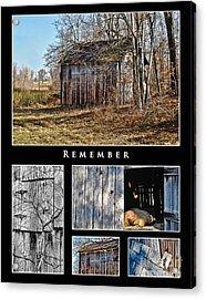 Remember Acrylic Print by Greg Jackson