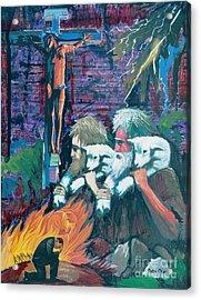 Remember The Shepherd Acrylic Print by Peter Olsen