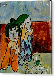 Remembering Picasso Acrylic Print by P J Lewis