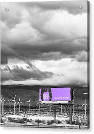 Remembrance Palm Springs First Lady Betty Ford Acrylic Print by William Dey
