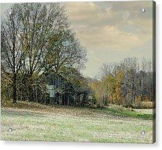 Remnants - Old Barn Landscape Scene Acrylic Print by Jai Johnson