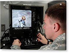 Remote Controlled Bomb Disposal Acrylic Print by Us Air Force/rey Ramon