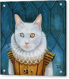 Acrylic Print featuring the painting Renaissance Cat by Terry Webb Harshman