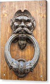 Renaissance Door Knocker Acrylic Print by Melany Sarafis