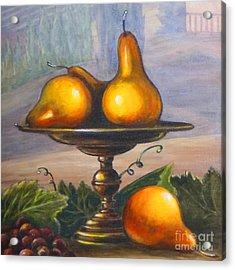 Renaissance Pears Acrylic Print