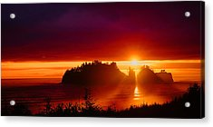 Renaldo Beach Sunset Acrylic Print