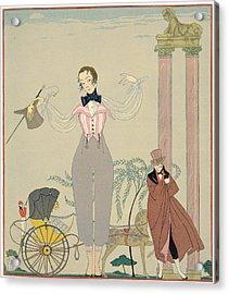 Rendez-vous  Acrylic Print by Georges Barbier
