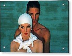 Rene Russo And Male Model Wearing Sun Wear Acrylic Print