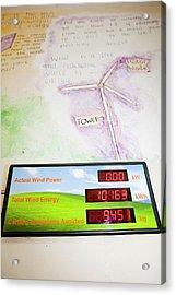 Renewable Energy Readouts Acrylic Print