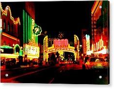 Reno At Night Acrylic Print