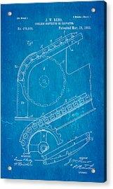 Reno Escalator Patent Art 1892 Blueprint Acrylic Print by Ian Monk