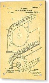 Reno Escalator Patent Art 1892 Acrylic Print by Ian Monk