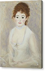 Renoir's Lady Acrylic Print by Marna Edwards Flavell