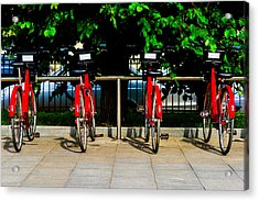 Rent-a-bike - Featured 3 Acrylic Print by Alexander Senin