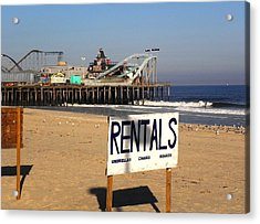 Rentals At The Shore Acrylic Print