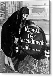 Repeal The 18th Amendment Acrylic Print by Jon Neidert
